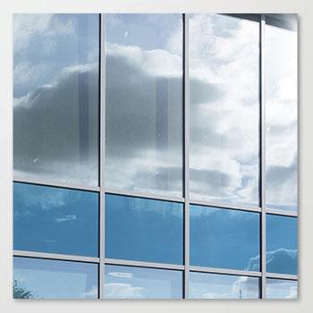 Fensterreinigung von Sonnenschutzglas
