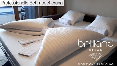 Professionelle Bettmodellierung und Unterhaltsreinigung
